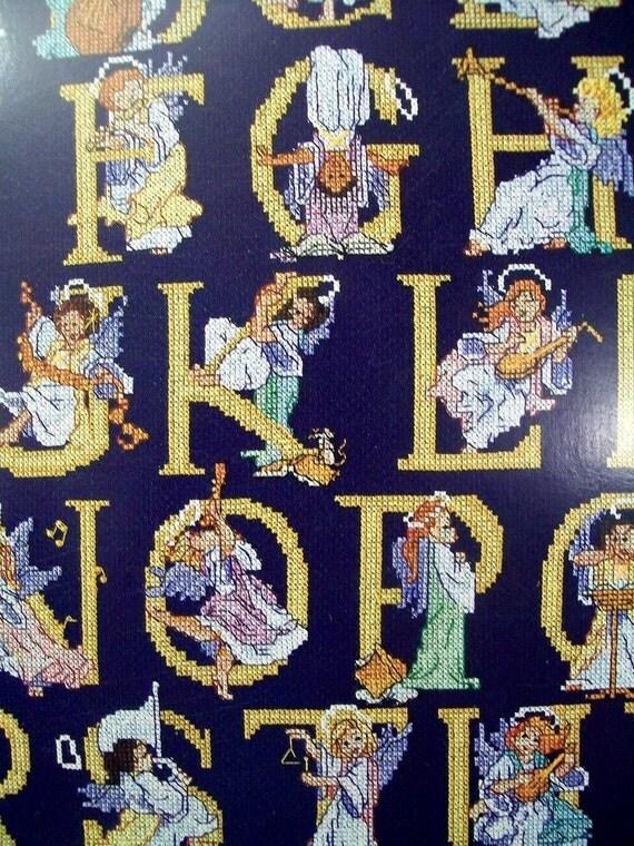 Choir of Angels - Angel Alphabet - Cross Stitch Leaflet Pattern Booklet Stitch World X-Stitch