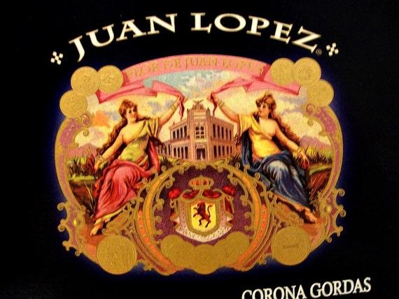 Cigar Box for crafting, purses, supplies  - JUAN LOPEZ