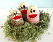Sock Monkey Easter Eggs