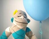 Plush Sock monkey, Girl sock monkey - Kids plush toy