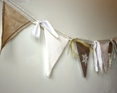 Winter Decoration - Upcycled Fabric bunting