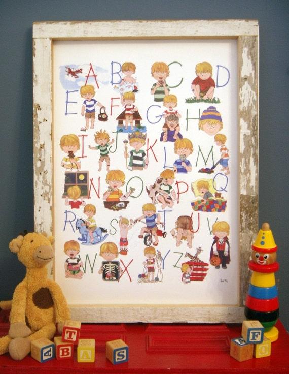 Boys Alphabet Poster
