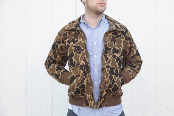 Vintage Camo Woolrich Jacket Mens Small