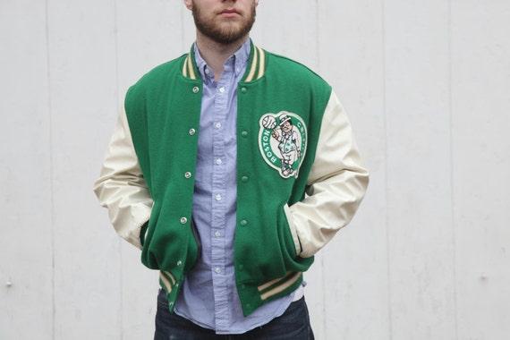 Vintage Celtics Letterman Jacket Mens Large
