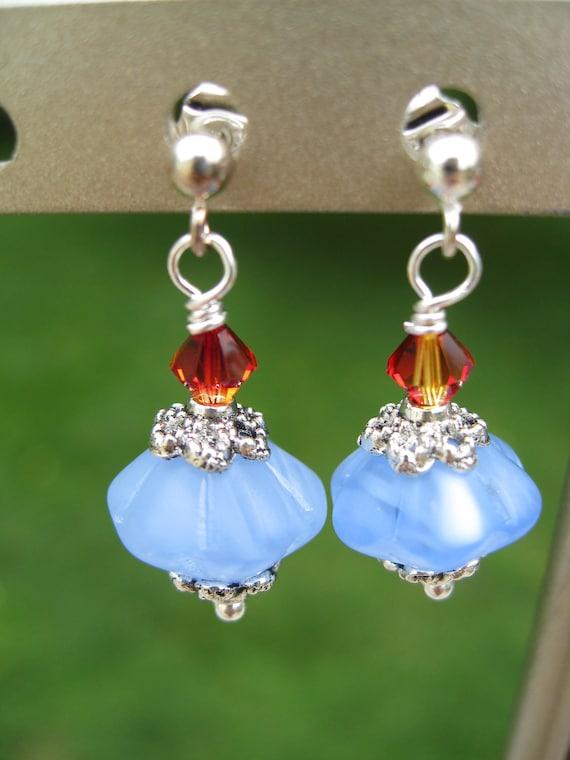 Blue Skies On Fire drop earrings