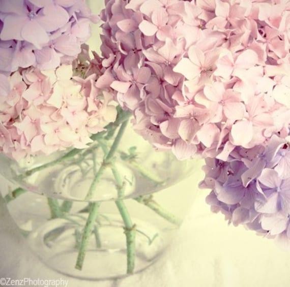 Hydrangea flower photograph, fine art photo, pink flowers, pastel pink print, floral wall art, flower photo,summer wall art,nursery wall art