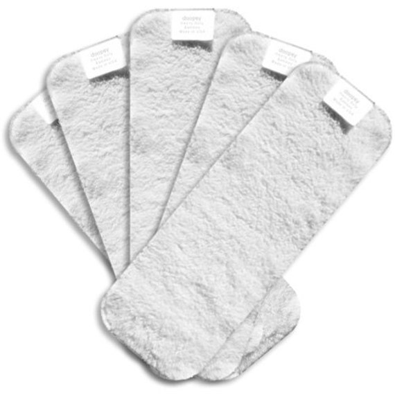 1 Free Pocket PUL Insert PLUS 4 Pack Heavy Duty Super Absorbent DOOPSY Bamboo Terry Cloth Diaper Soakers Inserts
