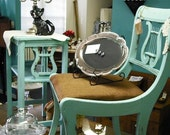 Tiffany Blue Vintage Table and Chair Set PRICE INCLUDES CONTINENTAL USA SHIPPING