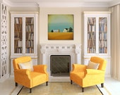 Huge Painting - Contemporary Farmhouse - Minimal Abstract Canvas - Honey Bee Farm -  36 x 36 - Free Painting - Custom Made