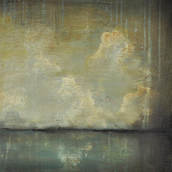 Storm Lake - Original Seascape Painting by Nancy Jean
