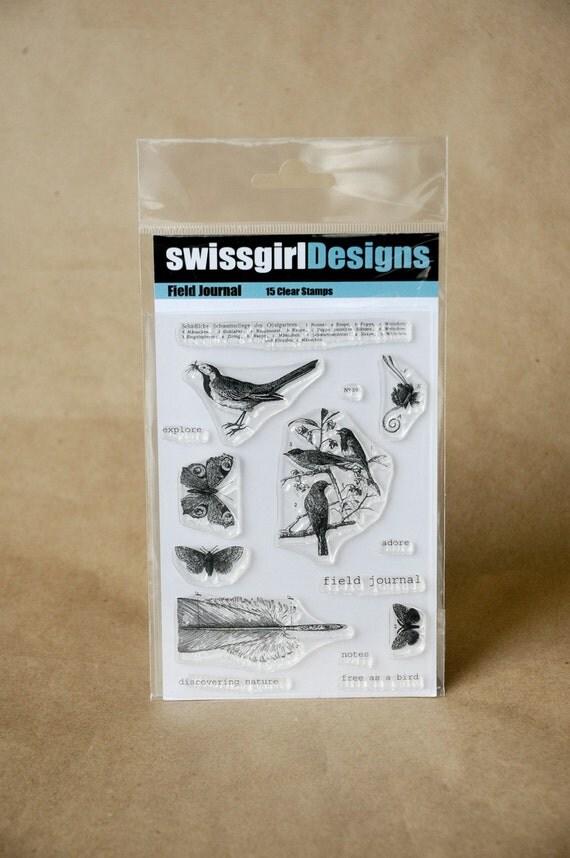 swissgirlDesigns - Field Journal - Clear Stamps