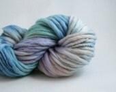 Thick and Thin Yarn Slub Handdyed Merino Dreamboat, baby yarn