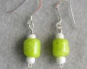Apple Green Bead Earrings