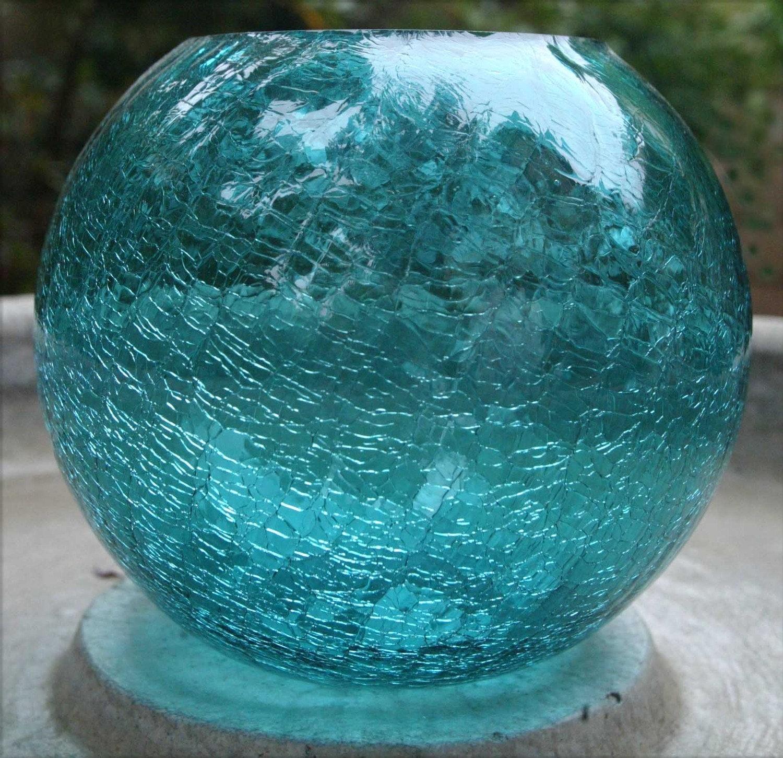2 luxury crackle vase home idea vase crackle glass turquoise blue reviewsmspy