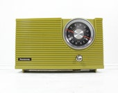 Retro Green Panasonic AM/FM Radio- Mid Century Model RE-6192