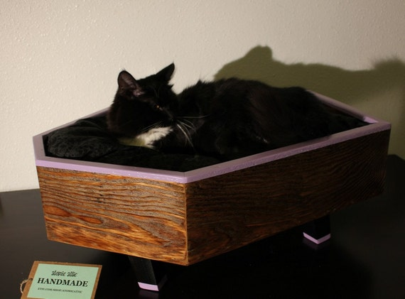 Reclaimed Wood Coffin Pet Bed