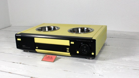 Upcycled Vcr Pet Feeder By Atomicattic On Etsy
