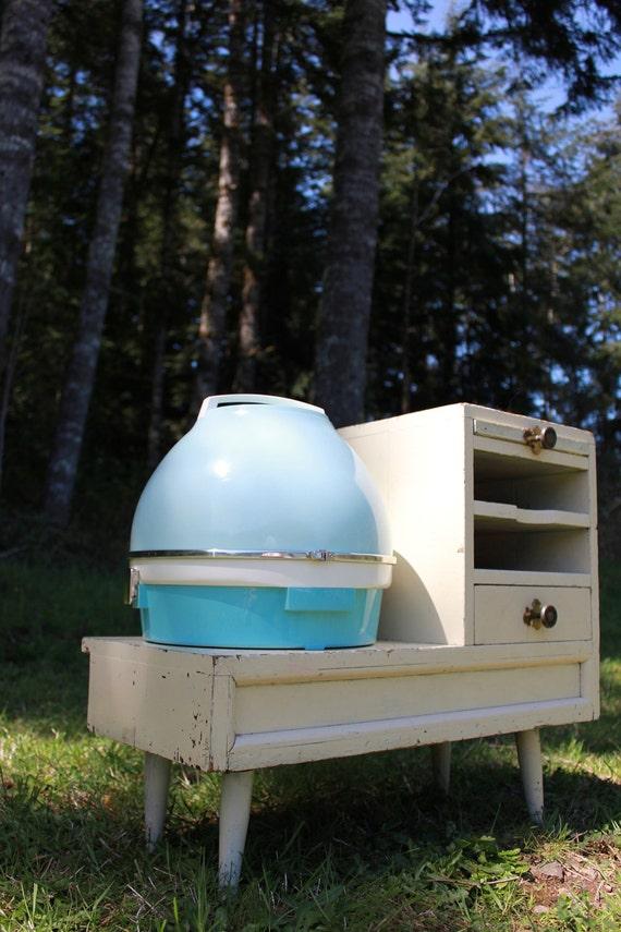 Retro Blue Lady Sunbeam Portable Hair Dryer
