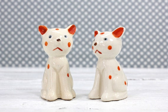 Retro Cat Salt and Pepper Shakers-Japan