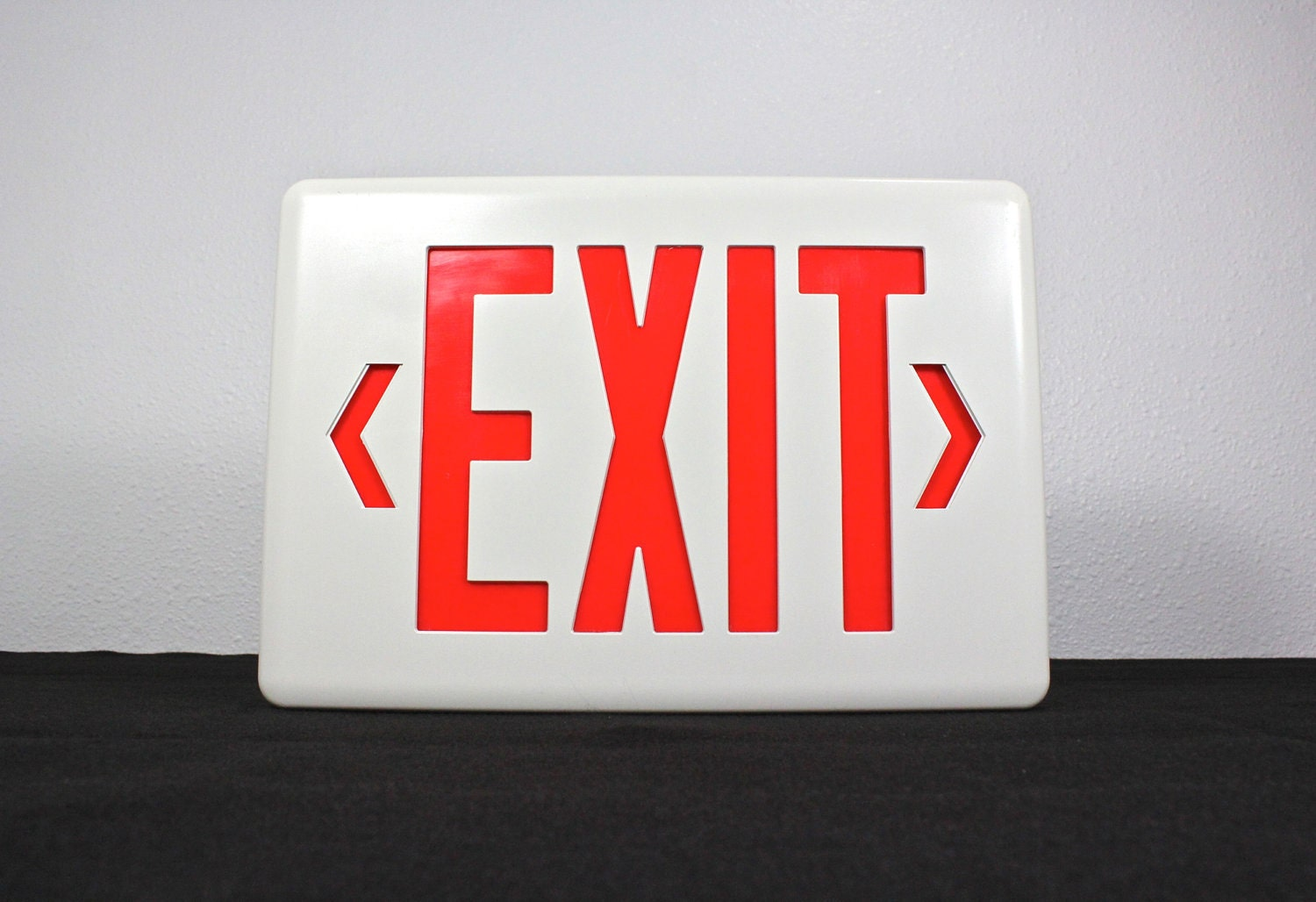 White And Red Exit Sign Light Box