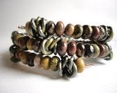 Gentleman's BrownStone Jasper and Chain Mens Bracelet -Unisex