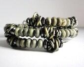 Gentleman's Greystone Jasper and Chain Men's Bracelet