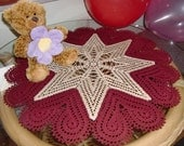 Round Doily with Hearts (skr13)