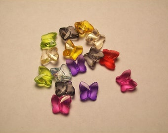 Multicolor Acrylic Butterfly Spacers