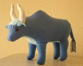 Blue Felt Ox