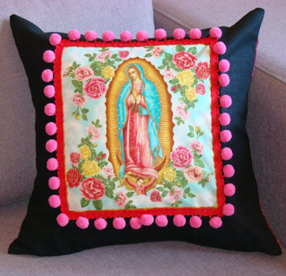 Reserved for Marryam Our Lady of Guadalupe Cushion