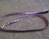 Pink Zebra 6 foot Dog Leash