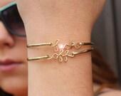 "Double Gold Filled ""f-ck off"" Bracelets"