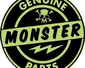 Genuine monster parts iron on patch jj328 halloween