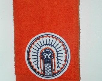 Chief Illini Illiniwick University of Illinois bath hand towel