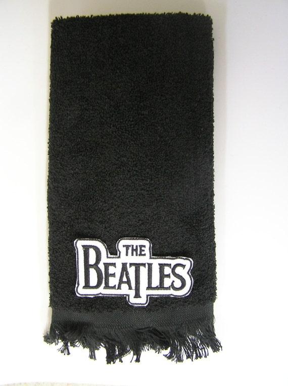 Beatles logo hand bath towel rock music vintage music applique