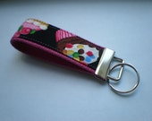 Perfectly Cute Cupcakes on Pink - MINI  Key Fob Wristlet