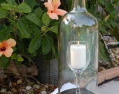 Special Wine Glass In A Bottle Candle Holder Hurricane Lamp Centerpiece
