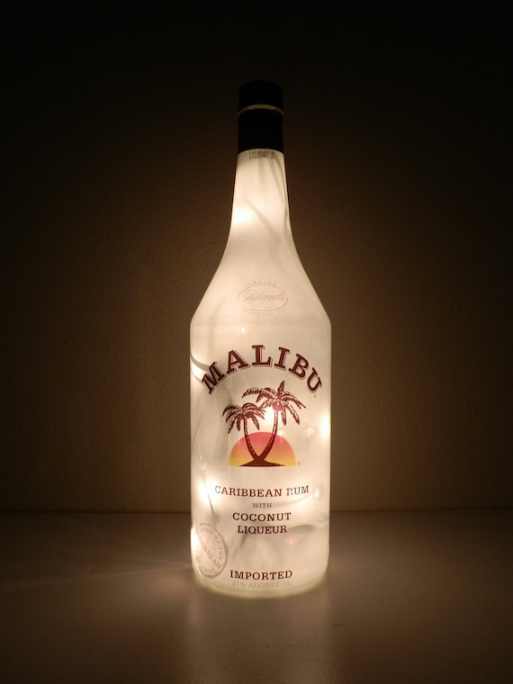 Malibu Caribbean Rum Lighted Bottle