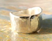 Wedding Band, Hammered Metalwork Ring for Men or Women by JC Metalsmith