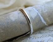 Platinum Wedding Band, Stacking Ring for Engagement Set, Simple Single Round Band