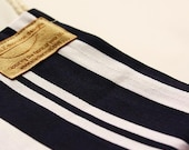 Nautical tea towel (blue stripe table linen)