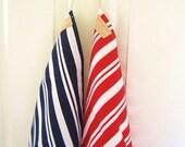 Nautical tea towel (red stripe table linen)