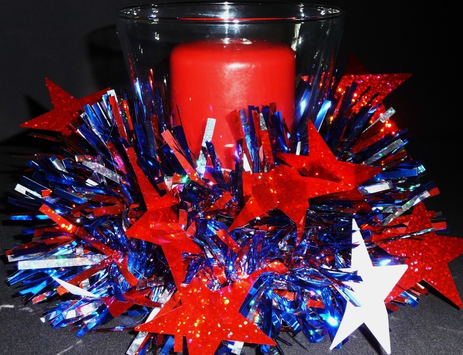 4th Of July Mesh Wreath