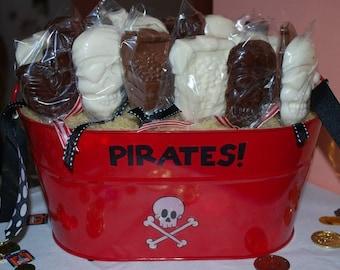 Pirate Party Lollipops One Dozen
