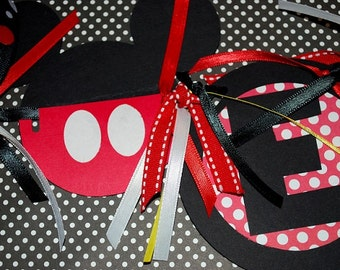 Mickey or Minnie Mouse Highchair Banner