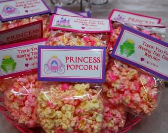 Pink Princess Popcorn - Princess Party Favors - Set of 12