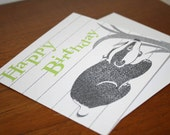 Birthday Card - Happy Birthday - Mr Badger