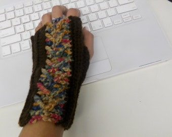 READY TO SHIP- Cabled Fingerless Gloves