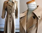 Etienne Aigner 70's Classic Vintage Tan Trenchcoat Medium Large