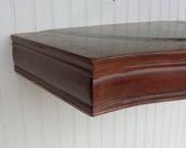 Salvaged Repurposed Handmade Modern Style French Floating Wood Shelf